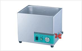 落ちにくい汚れは超音波洗浄機を使用しています