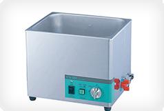 落ちにくい汚れは超音波洗浄機を使用